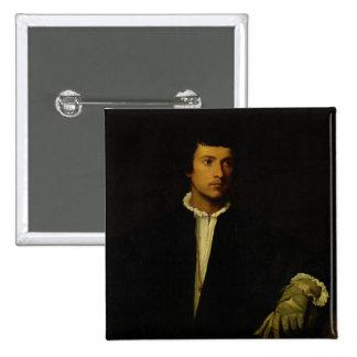 Der Mann mit einem Handschuh, c.1520 Quadratischer Button 5,1 Cm