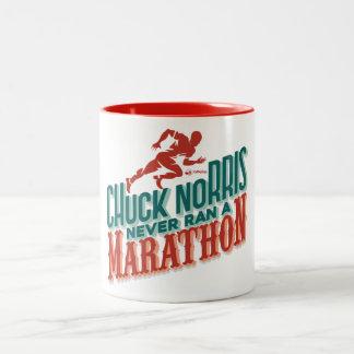 Der Marathoner Zweifarbige Tasse