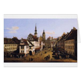 Der Markt bei Pirna durch Bernardo Bellotto Karte