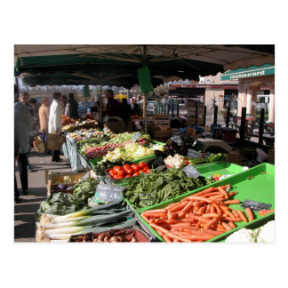 Der Markt des Bauern, Louans, Bresse, klemmt fest Postkarte