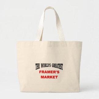 Der Markt des Bauern Tragetaschen