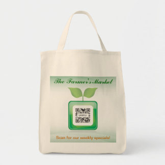 Der Markt des Taschen-Schablonen-Bauern Einkaufstasche