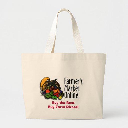 Der Markt-on-line-Einkaufstasche des Bauern