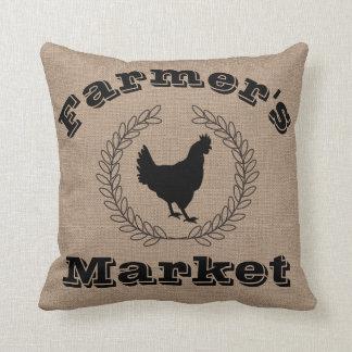 Der Markt-Schwarz-Lorbeer u. Henne des rustikalen Kissen