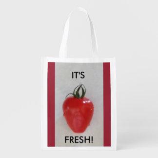 Der Markt-Tasche des Bauern Wiederverwendbare Einkaufstasche