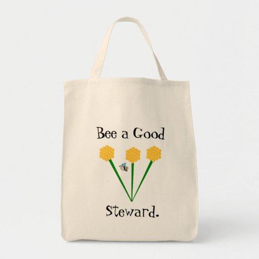 Der Markt-Tasche des Bienen-Führungs-Bauern