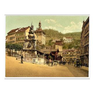 Der Marktbrunnen, Karlsbad, Böhmen, Austro-Hunne Postkarte