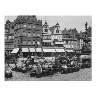 Der Marktplatz am Trier, c.1910 Poster
