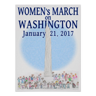 Der März der Frauen auf Washington - durch Perle Poster