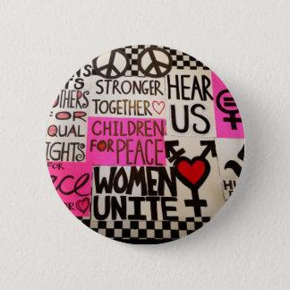 """Der März der Frauen fährt, Button fort (2,25"""""""