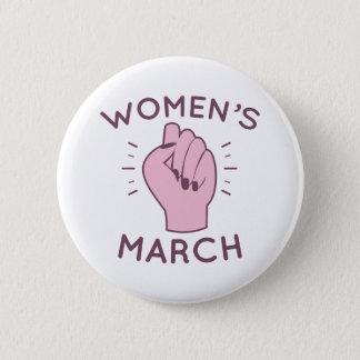Der März der Frauen Runder Button 5,7 Cm