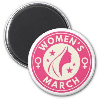 Der März der Frauen Runder Magnet 5,1 Cm