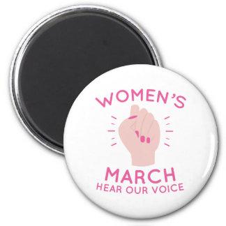 Der März der Frauen Runder Magnet 5,7 Cm