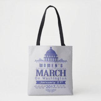 Der März Million Frauen auf Blau-Tasche Tasche