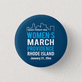Der März Providence Rhode Island Januar der Frauen Runder Button 3,2 Cm