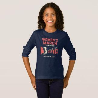 Der März-San Diego der Frauen langes T-Shirt
