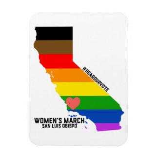 Der März SLO LGBTQ Frauen Magnet