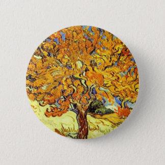 Der Maulbeerbaum, Vincent van Gogh Runder Button 5,7 Cm