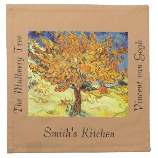 Der Maulbeerbaum, Vincent van Gogh. Serviette