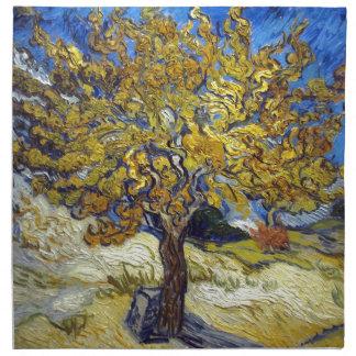 Der Maulbeerbaum, Vincent van Gogh. Vintag Stoffserviette