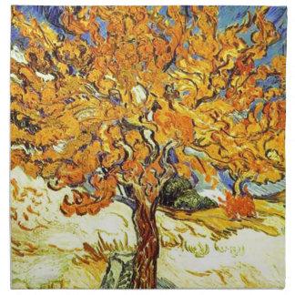 Der Maulbeerbaum, Vincent van Gogh. Vintage Kunst Serviette