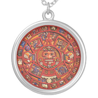 Der Mayakalender Versilberte Kette