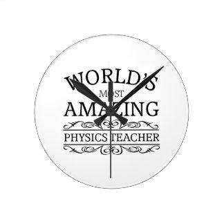 Der meiste fantastische Physiklehrer Runde Wanduhr