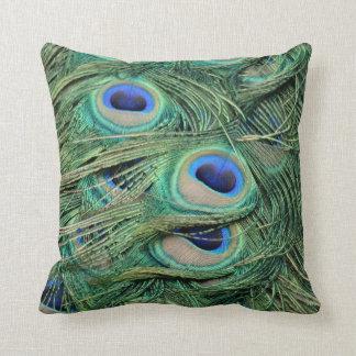 Der meiste schöne Pfau versieht mutige blaue Augen Kissen