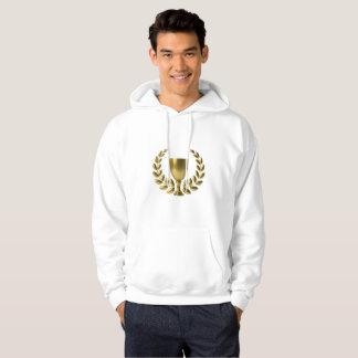 Der Meister-GoldCup-Weiß-Strickjacke der Männer Hoodie