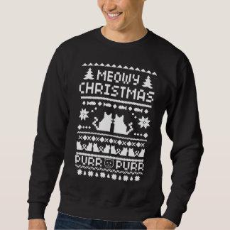 Der Meowy der Männer Weihnachtsfeiertags-hässliche Pullover
