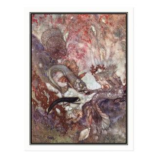 Der merman-König durch Edmund Dulac Postkarte