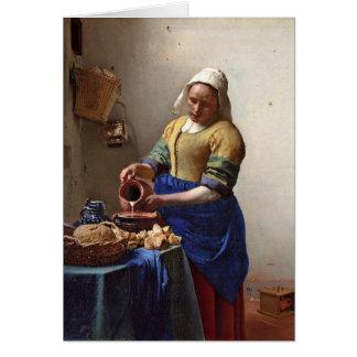 Der Milkmaid. Durch Johannes Vermeer Grußkarte