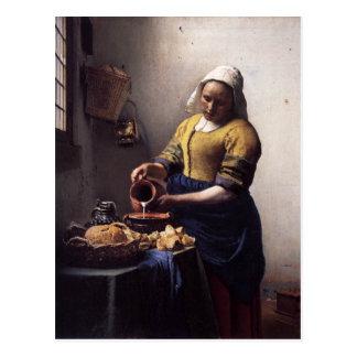 Der Milkmaid durch Johannes Vermeer Postkarte