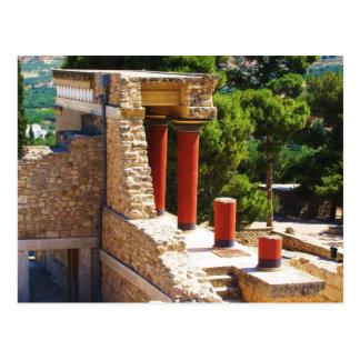 Der Minoan Palast von Knossos Bild Postkarte
