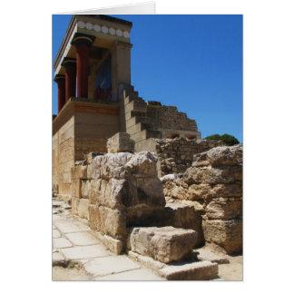 Der Minoan Palast von Knossos Fotografie Karte