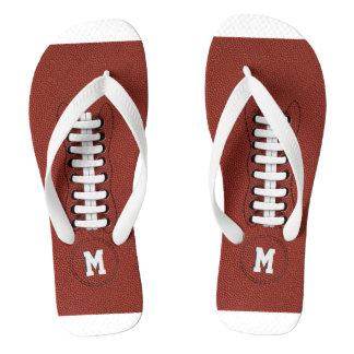 Der mit Monogramm amerikanische sportliche Fußball Flip Flops
