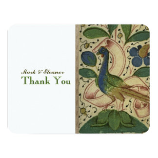 Der mittelalterliche personalisierte Fasan danken 10,8 X 14 Cm Einladungskarte