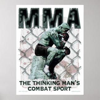Der MIXED MARTIAL ARTS Denker Plakat