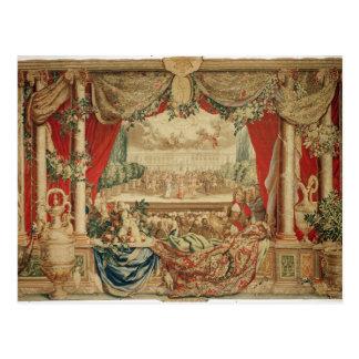 Der Monat Januar das Louvre Postkarte
