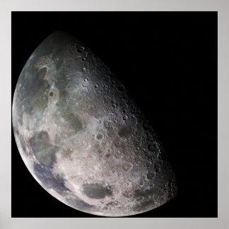 Der Mond der Erde Poster