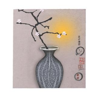 der Mond der tony fernandess und Blüte mit 6 Notizblock