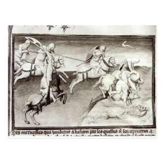 Der mongolische Führer, Hulagu, khan vom Ilkhanate Postkarte