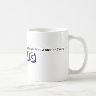 Der Morgen-Elan des Vatis in seinem Schritt wachen Kaffeetasse