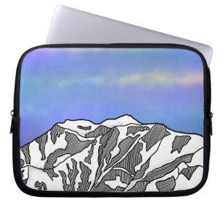 Der Mount- Loganillustration Laptopschutzhülle