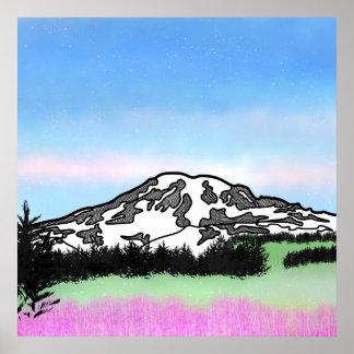 Der Mount Rainier Jackson Hole Poster