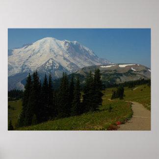 Der Mount Rainier von der Sauerteig-Ridge-Spur Poster