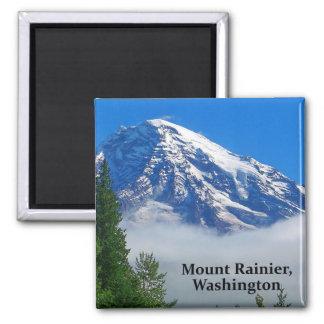 Der Mount Rainier von Kautz Nebenfluss Quadratischer Magnet