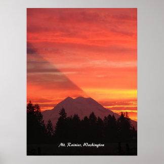 Der Mount Rainier, Washington Poster