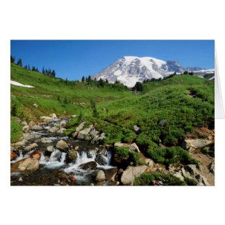 Der Mount Rainier, Wasserfall, schneebedeckt Karte