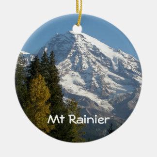 Der Mount- Rainieransicht-Foto-einseitige Rundes Keramik Ornament